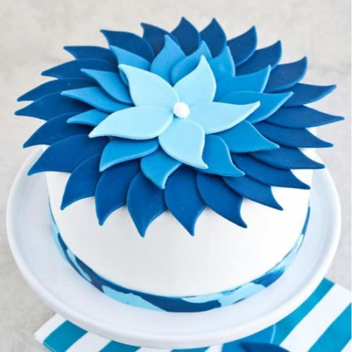 Blue Ombre Cake