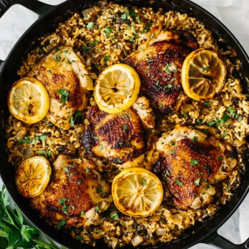 One Pan Chicken And Rice