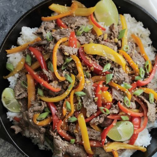 Asian Beef & Pepper Stir Fry