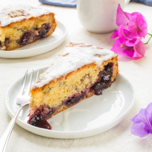 Almond-Cherry Coffee Cake