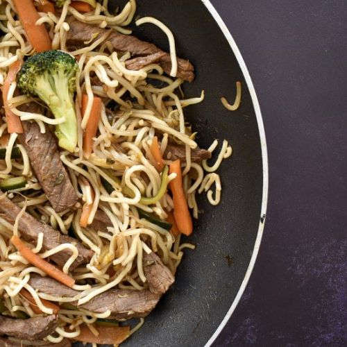 Leftover Roast Beef Chow Mein