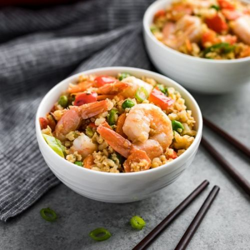 Red Curry Shrimp Fried Rice