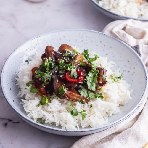 Stir Fried Aubergine with Chilli