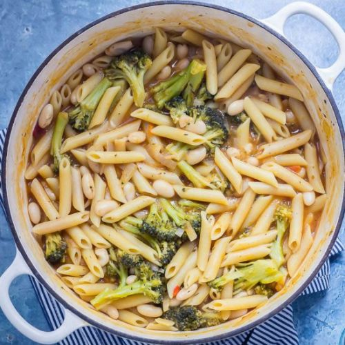Broccoli White Bean One Pot Pasta