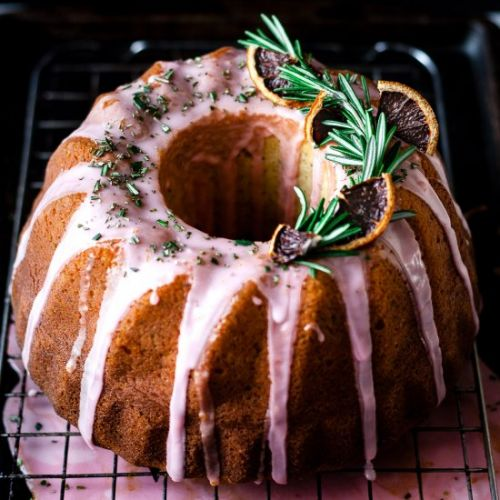 BLOOD ORANGE ROSEMARY BUNDT CAKE