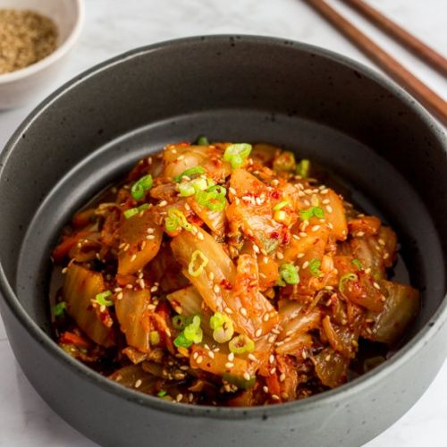 Quick and Easy Stir Fried Kimchi