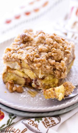 Pumpkin and Doughnut French Toast Bake