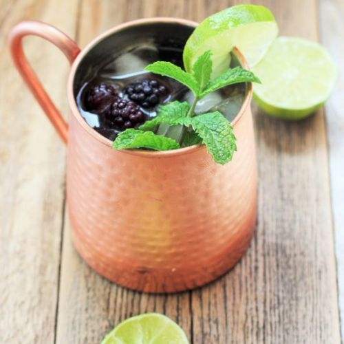 BLACKBERRY AND PEACH MOSCOW MULE