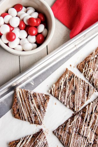 White Chocolate Peppermint Brownie Bark