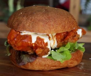 How to Cook a Buffalo Fried Chicken Sandwich
