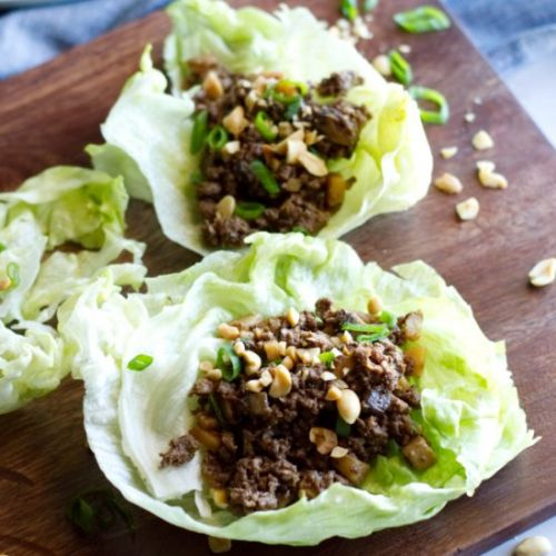 Ground Venison Lettuce Wraps