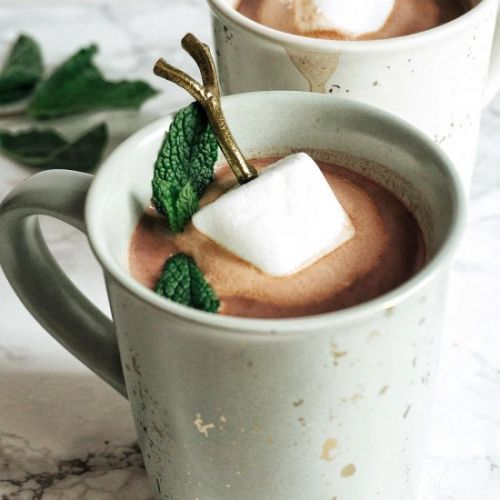 Boozy Mint Hot Chocolate