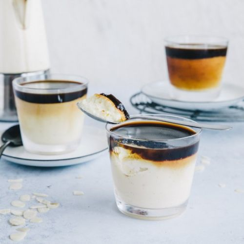 Vanilla Pudding with Coffee