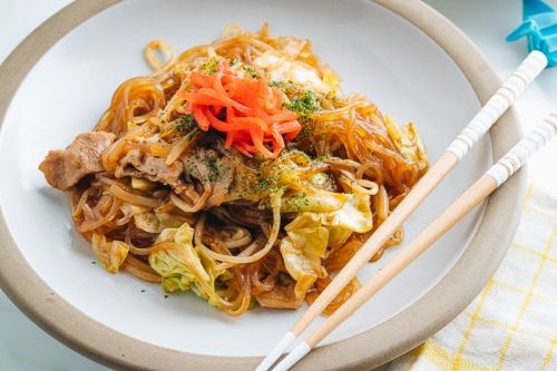 Yakisoba with Malony Glass Noodles