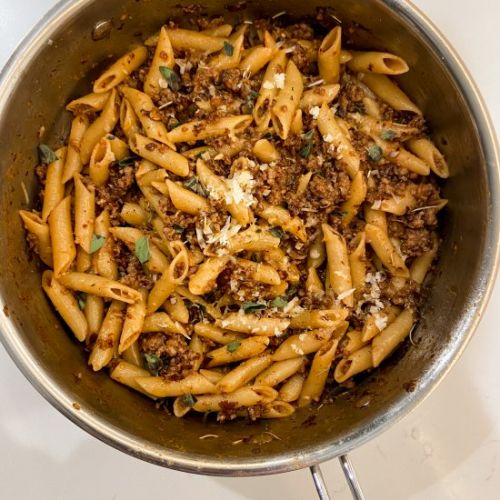 Sausage and Red Wine Pasta