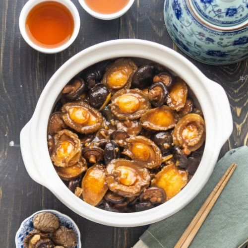 Braised Abalone with Mushrooms