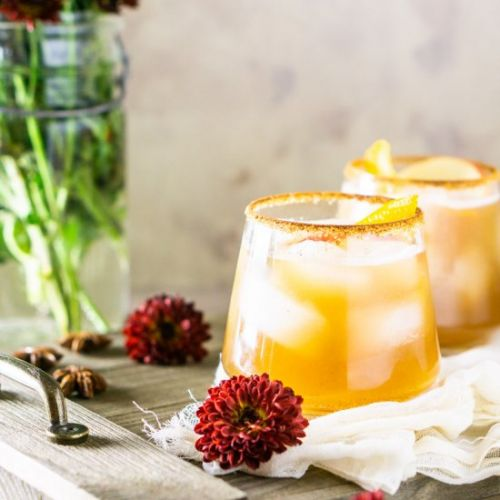 Ginger-Bourbon-Apple Cider Cocktail