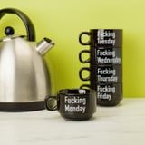 """We Won't Ask What You're Drinking If You're Sipping From These """"F*cking Weekday"""" Cups"""