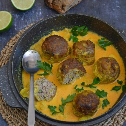 Leftover Lamb Kofta Curry
