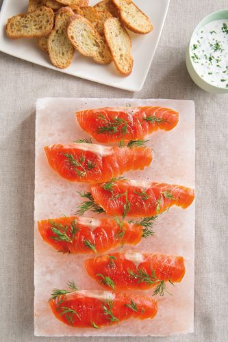 Quick-Cured Salmon with Dill