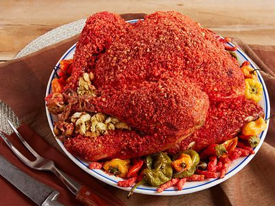 Flamin' Hot Cheetos Turkey Is the Thanksgiving Feast America Deserves
