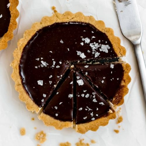Mini Dark Chocolate Sea Salt Tarts