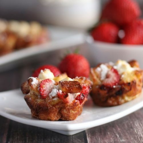 Keto Strawberry French Toast Cups