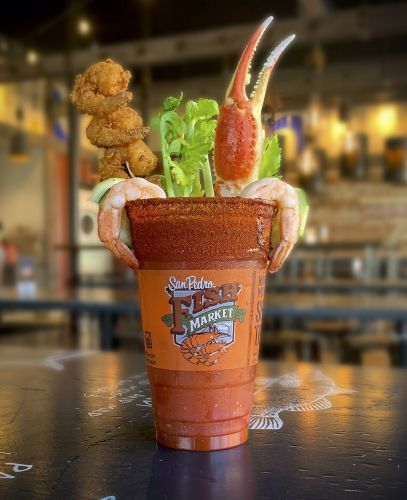San Pedro Fish Market Grille Unveils Loaded Seafood Michelada in Celebration of National Seafood Month