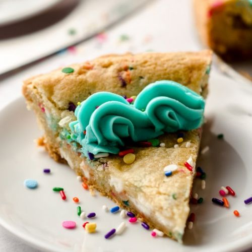 Funfetti sugar cookie cake