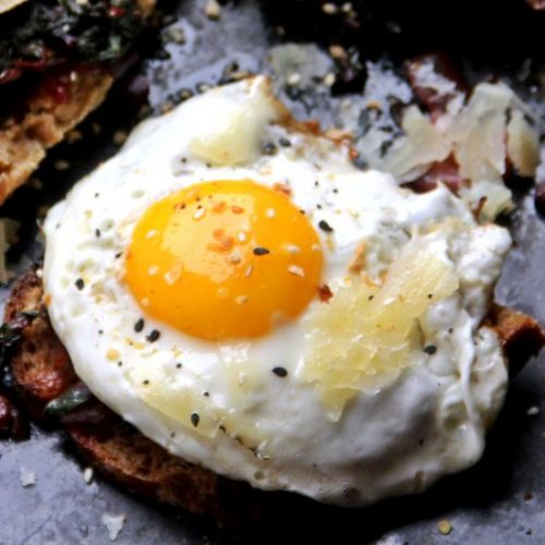 Fried Eggs with Parmesan