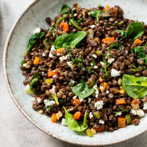 French Green Lentil Salad