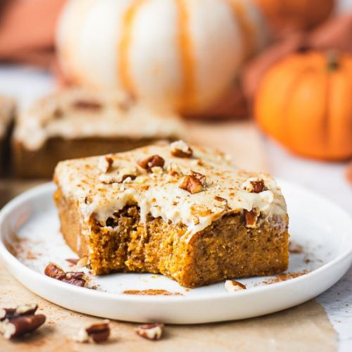 Pumpkin Bars Cream Cheese Frosting