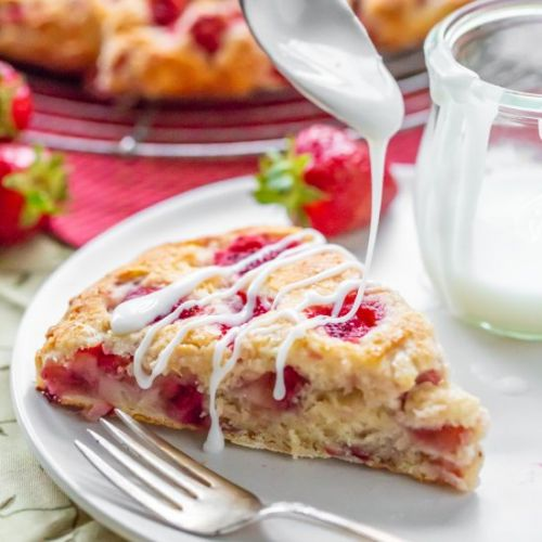 Strawberry Biscuit Wedges