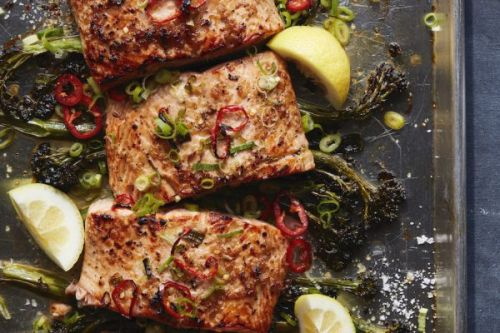 Sheet Pan Broiled Salmon