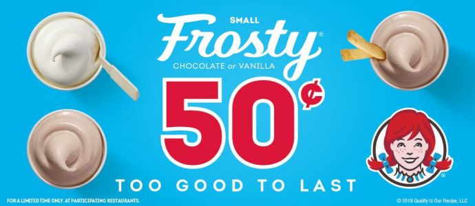 Chill Out: Wendy's 50¢ Frosty Is Back, Available Now