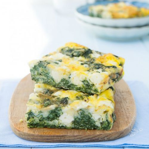 Frittata with spinach and feta
