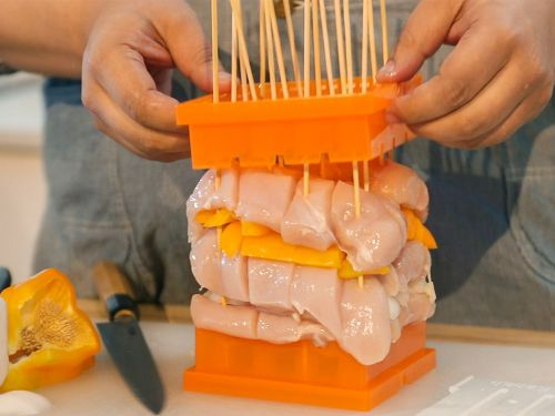 Watch: The Shish Kebab Assembler Is Not Great at Assembling Kebabs
