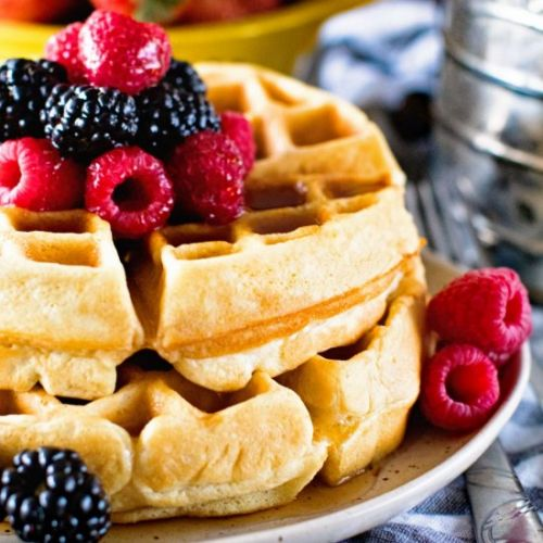Thick Fluffy Homemade Waffles