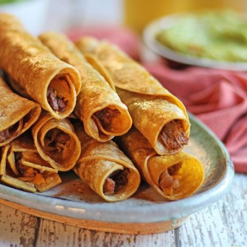 Vegan taquitos with jackfruit
