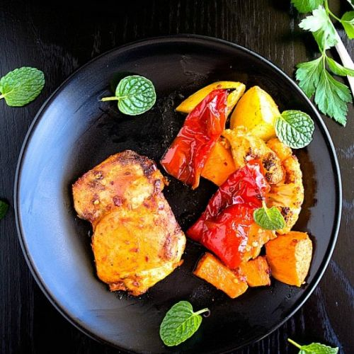 Indian Spiced Chicken Tray Bake