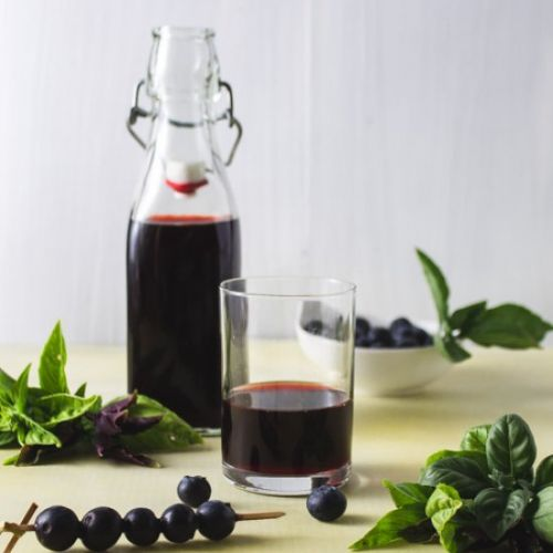 Blueberry Basil Shrub