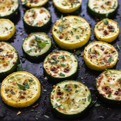Toaster Oven Broiled Zucchini