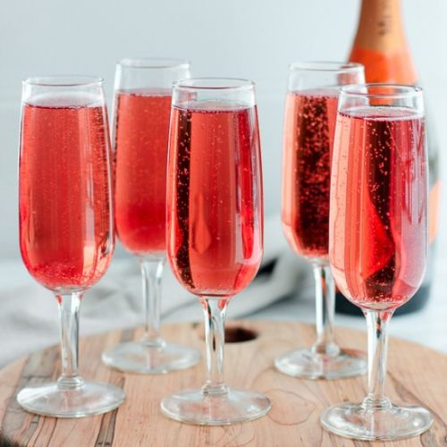 Cranberry-Raspberry Champagne