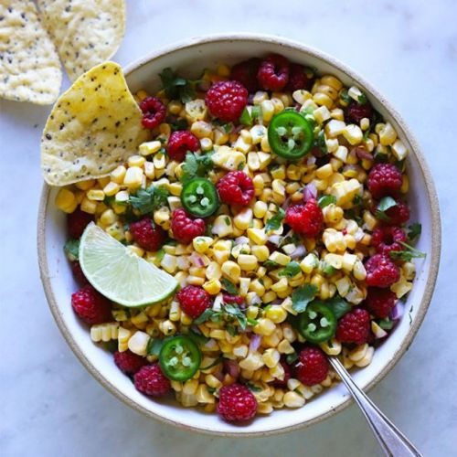 Summer Raspberry Corn Salsa