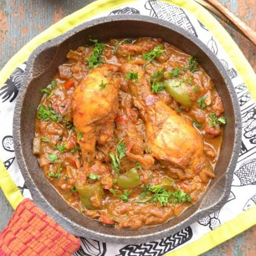 Skillet Chicken Legs Indian Style