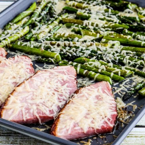 Easy Cheesy Baked Ham and Asparagus