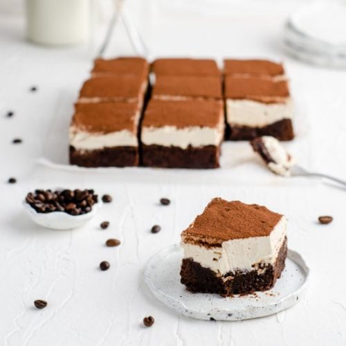 The Best Tiramisu Brownie Frosting