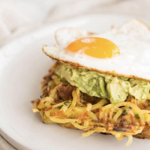 Potato Waffle with Avocado and Egg