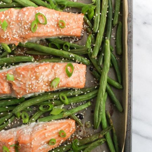 Sheet Pan Miso Salmon