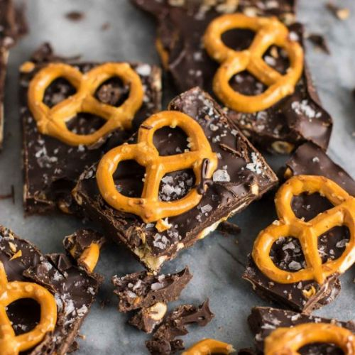Chocolate Sea Salt Pretzel Bark
